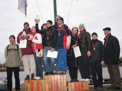 Награждение победителей в заплывах моржей (Елгава, Латвия)